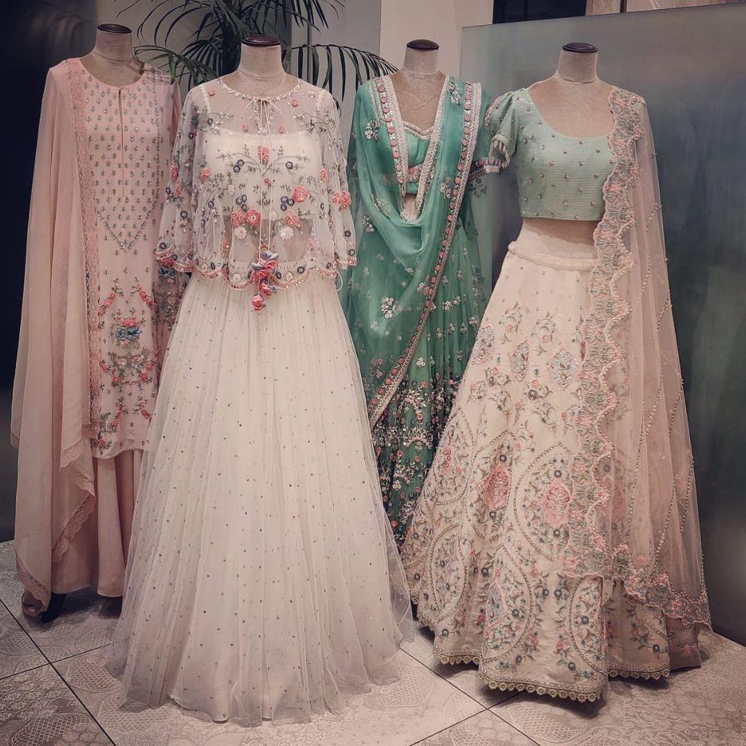 Stunning summer by Priyanka Gupta bridal lehenga sets. 2021-03-07