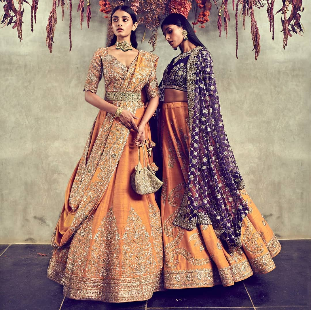 Gorgeous mustard yellow color jayanti Reddy signature lehenga and blouse with classy hand embroidery work.  2021-03-09