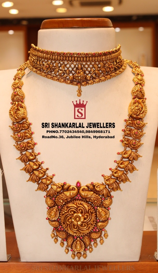 Latest Deep Nakshi Work Jewellery ! Light weight in Heavy looking and vast collection! Please visit  on video call 7702434540 //9849968171 2021-03-17