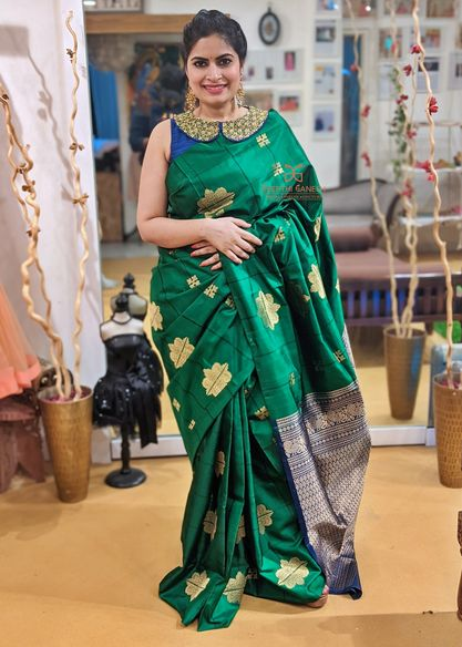 Beautiful designer Deepthi Ganesh looks extremely graceful in Soft Silk Saree collection!   For enquirers/details please Whatsapp on +91-8142420088 2021-03-18