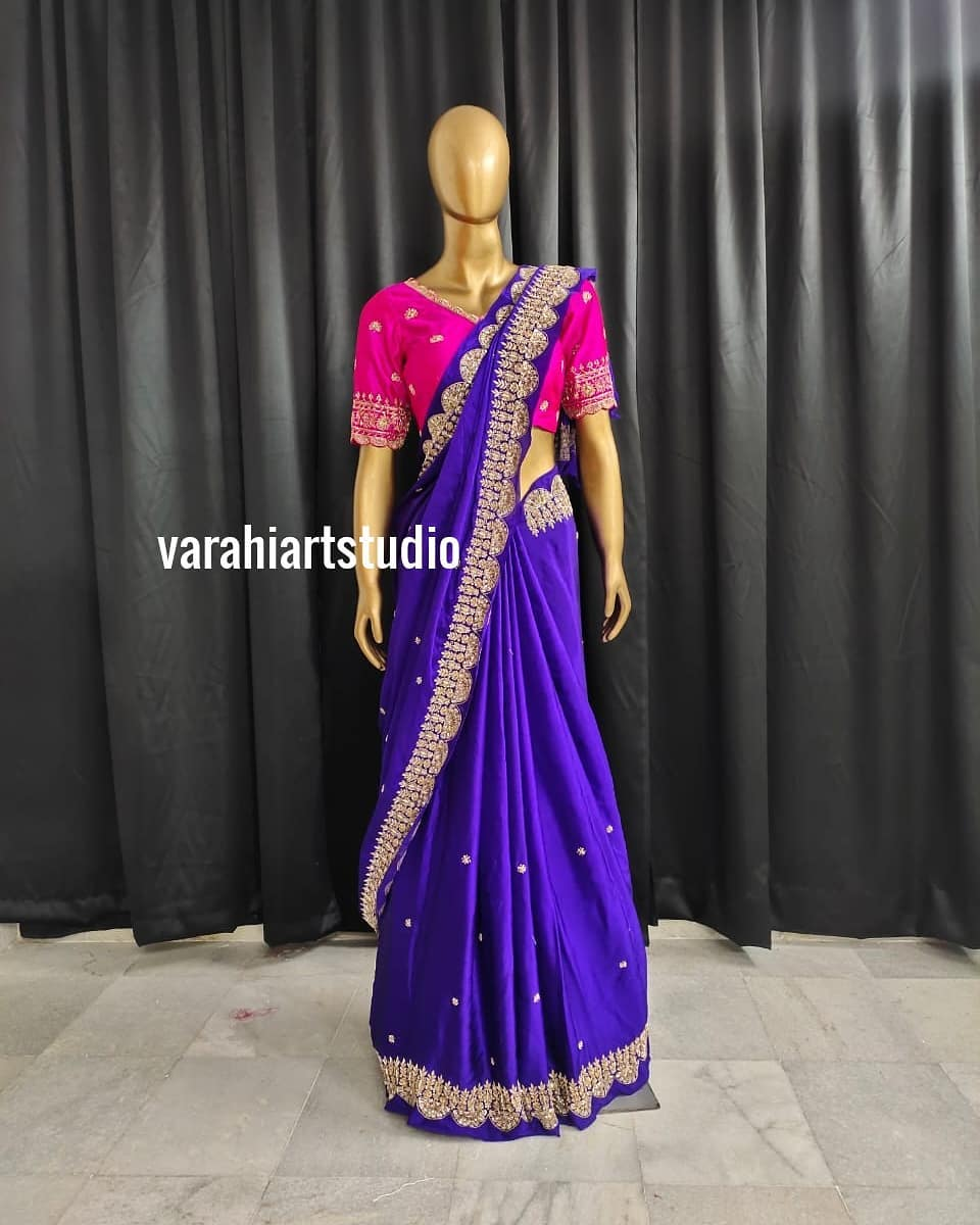 This wedding season varahi introduce Handicrafted Scalap Style Sarees .. .. ..