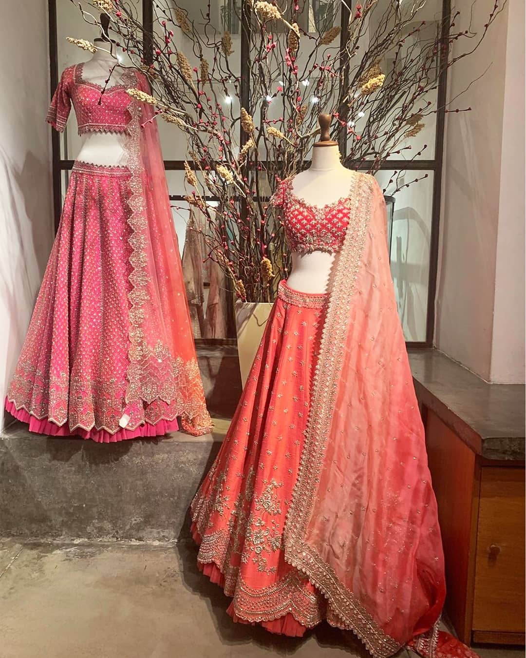 A fun wedding curation from Anushree Reddy  peppered with delightful prints and embellishments. For more images help with selections and easy shopping from home please WhatsApp +91 9711-991998 and at +91 8448-529822. 2021-03-27