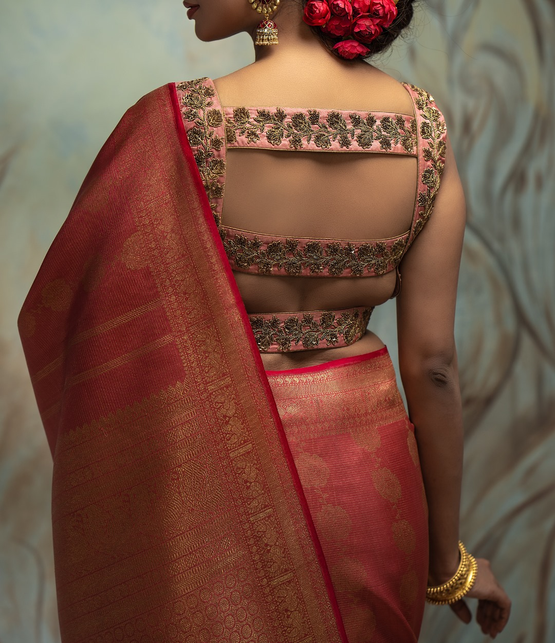 Zardozi embellished Kanchi silk blouse! Get gorgeous customized outfits & blouses for your special day!  2021-04-01
