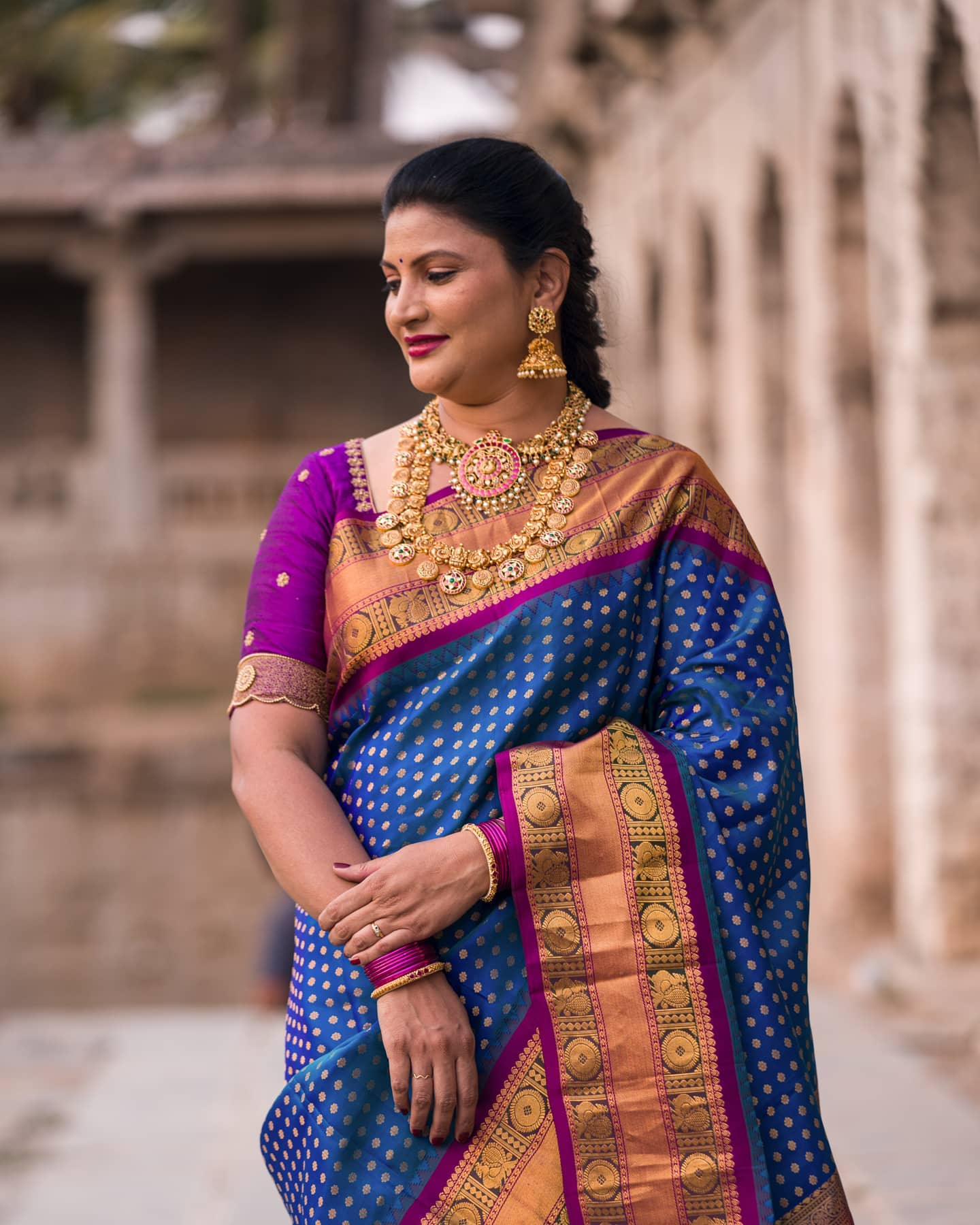 Gorgeous Gadwal Pattu Saree with a Minimal Embroidered Blouse. . .  2021-04-05