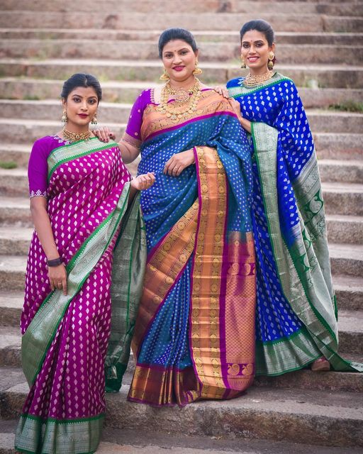 Gadwal Sarees with a Minimal Embroidered Blouses. 2021-04-07