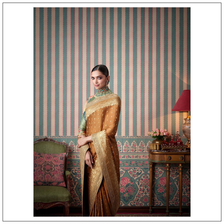 Sabyasachi for Nilaya @worldofnilaya luxury wallpapers.  Featuring Deepika Padukone . 2021-04-07