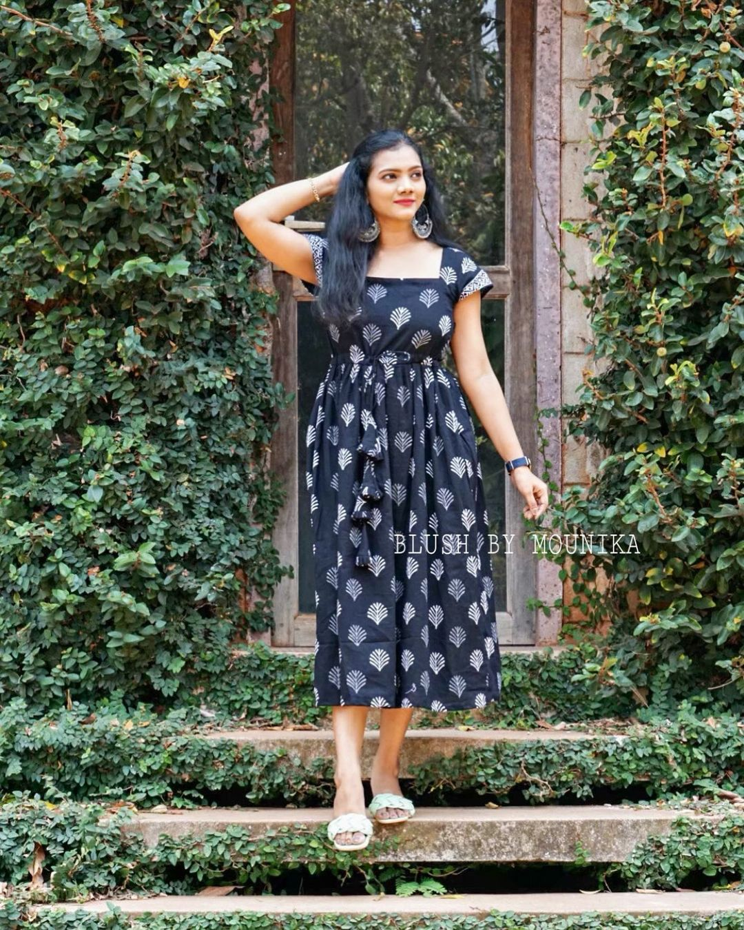 Bringing some Summer Midi Combo dresses in Blush by Mounika .