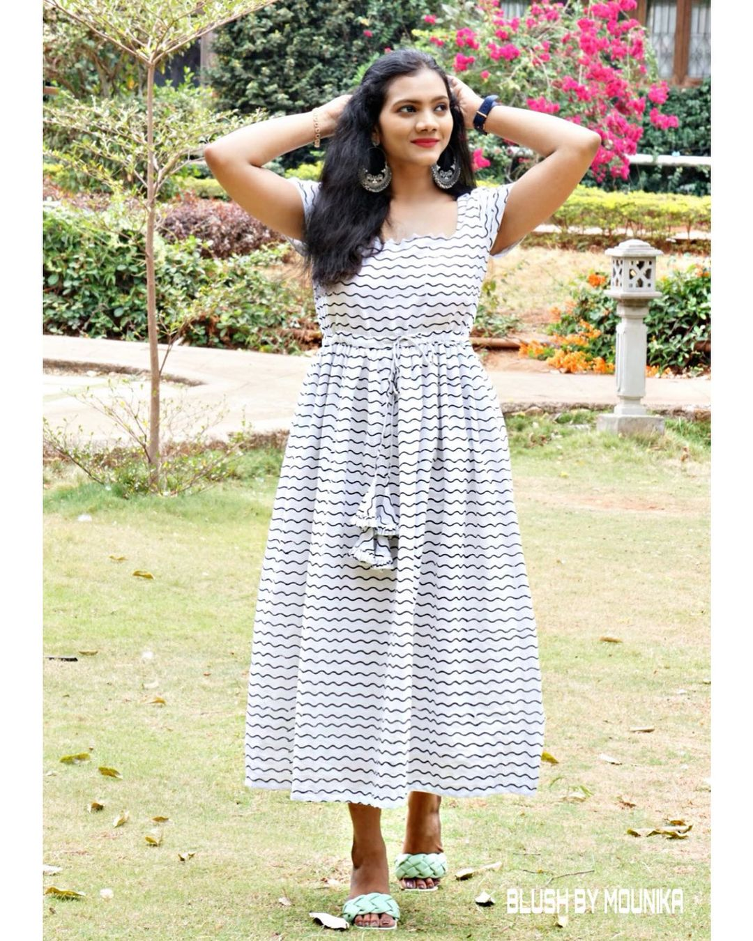 Bringing some Summer Midi Combo dresses in Blush by Mounika 