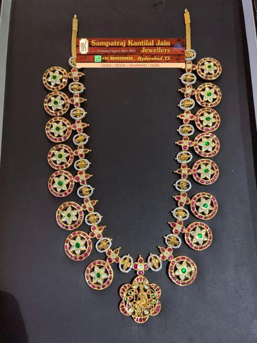 Beautiful 22k gold Kundan Bottu Mala. Weight:- 120 grams. 2021-04-12