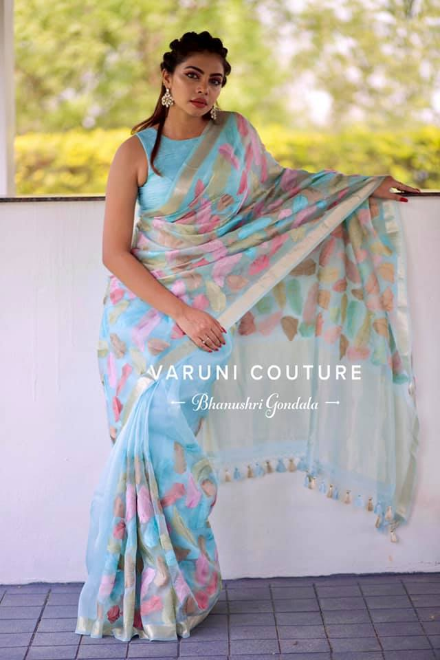 Feather concept sarees .  For more details email  at varunicouturehyd@gmail.com  WhatsApp 9121017226 2021-04-29