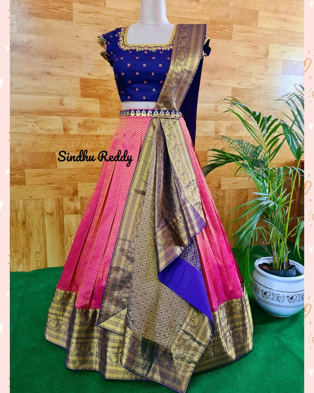 Redefine occasion wear with this Pre draped and stitched duppata on a crop top and pattu skirt. . . I think its a really easy way to carry an outfit more gracefully and comfortably 2021-04-29