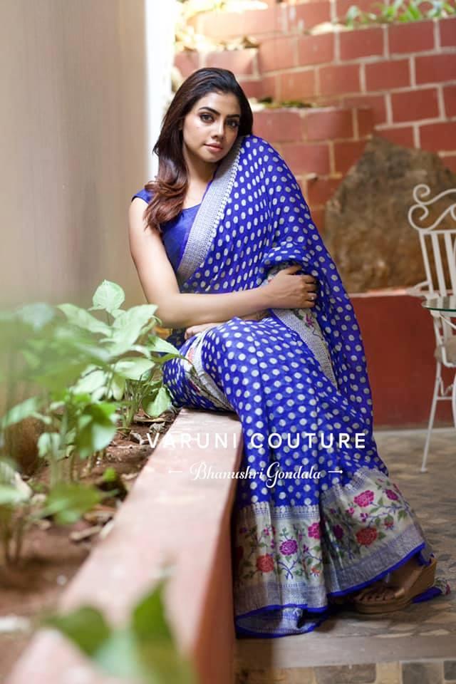 Stunning royal blue colour paithani pattu saree. For enquiries / orders  WhatsApp 9121017226 Email varunicouturehyd@gmail.com. 2021-05-05