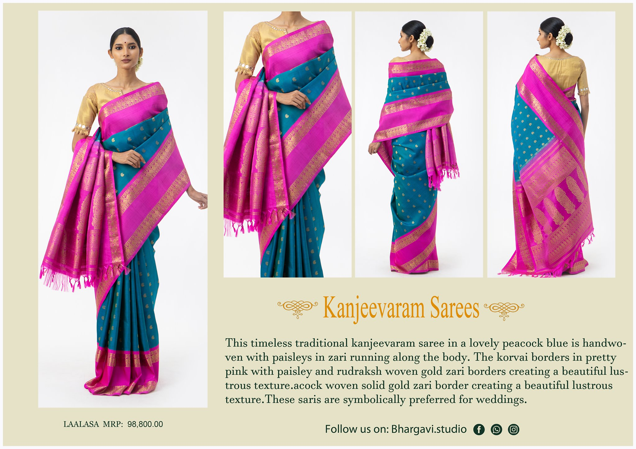 This wine purple woven kanjivaram saree has certainly won many hearts. This saree holds a different kind of magic that anyone can fall in love with it the moment one lays an eye on this saree.  2021-05-08