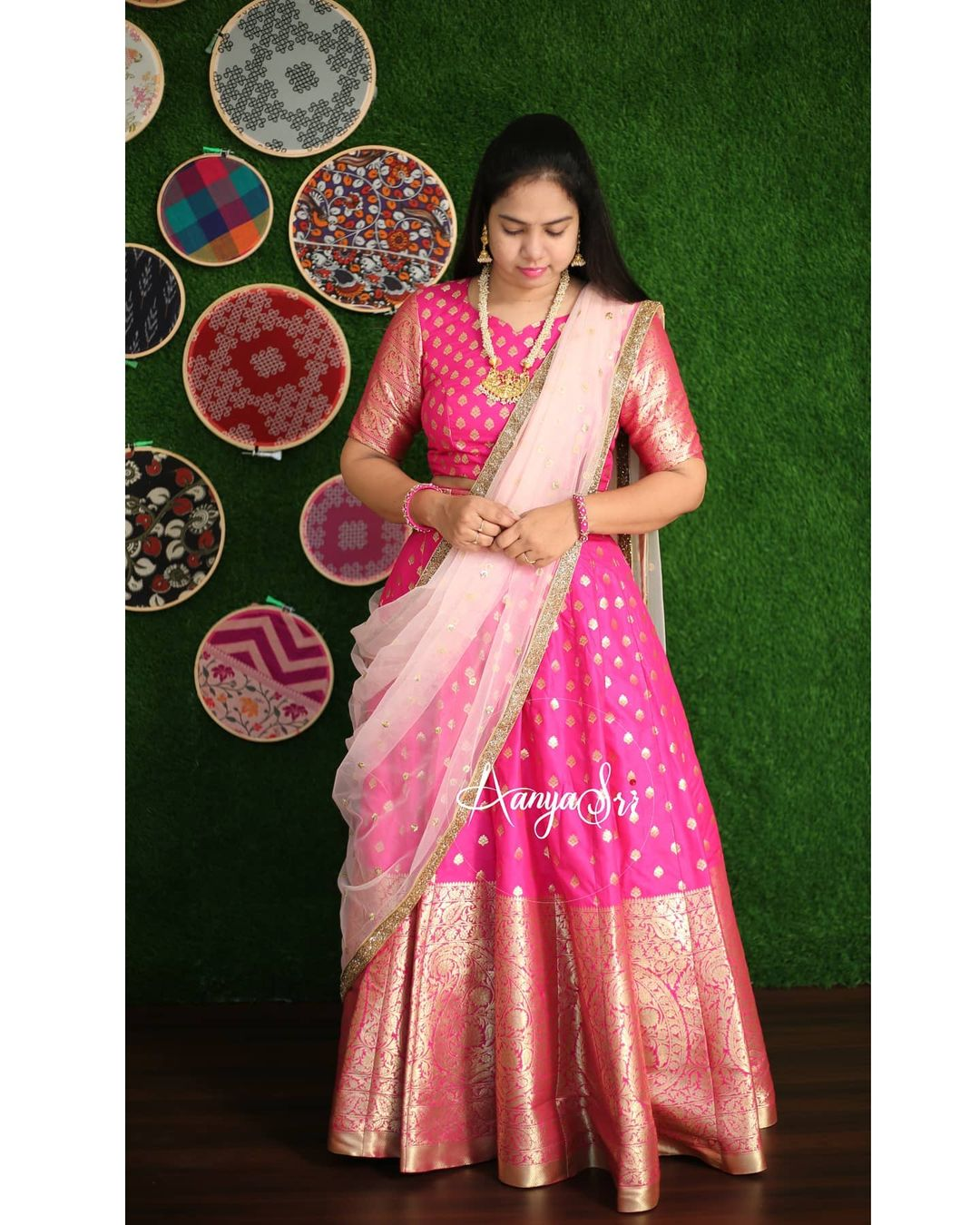 Pink Banarasi