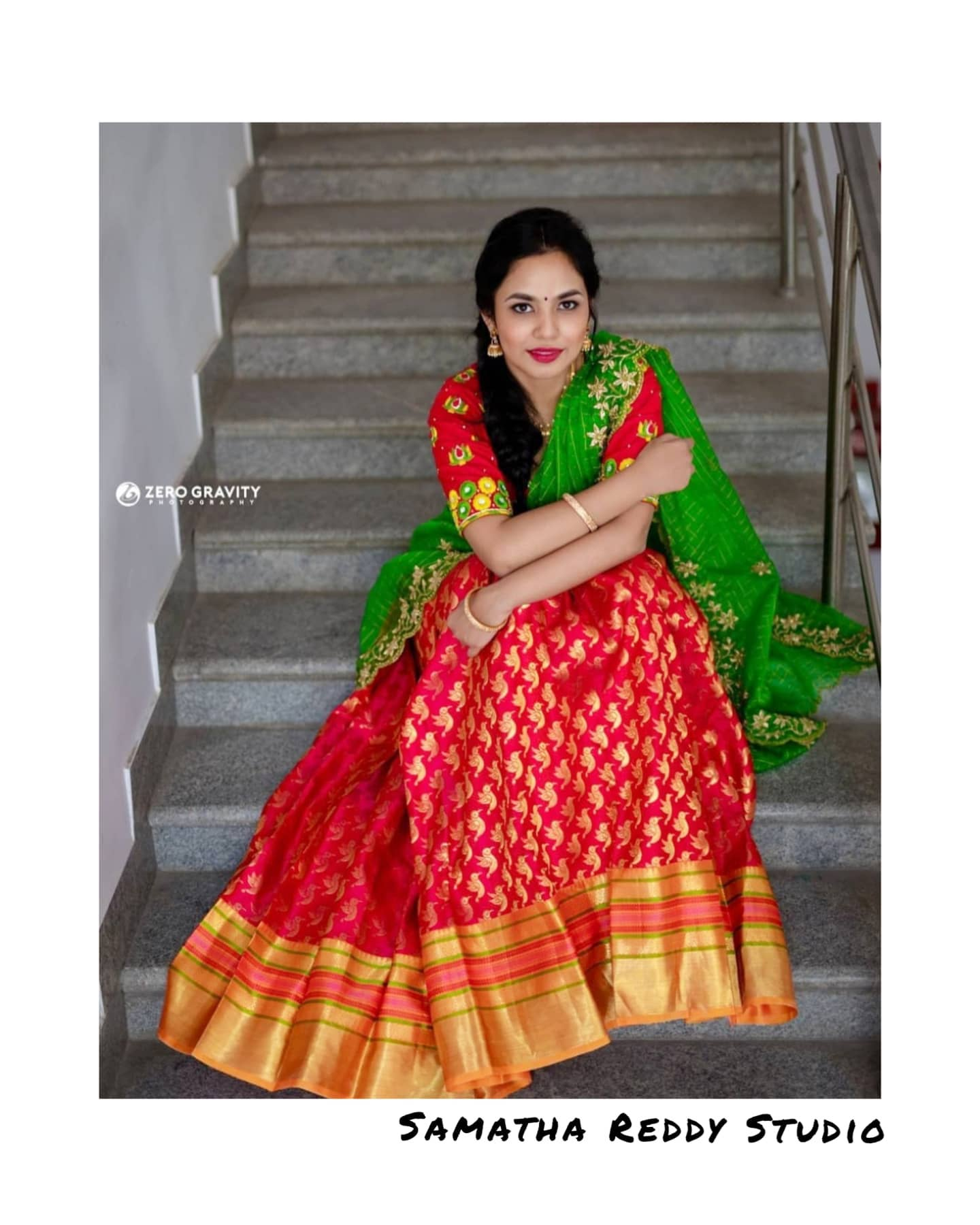 Kanchi Pattu Lehanga with a heavy embroidered blouse paired with an elegant Dupatta 2021-05-12