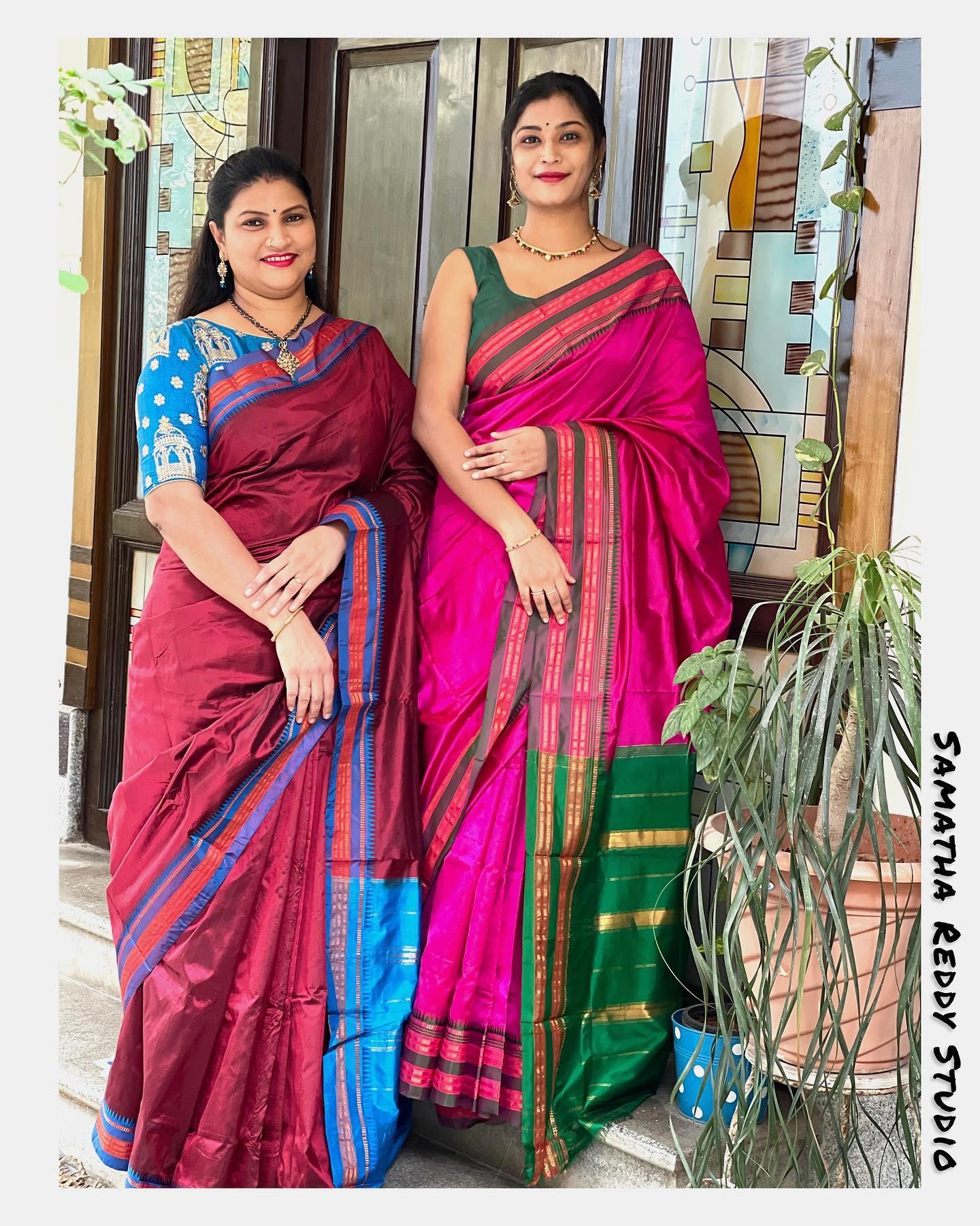 Mother Daughter Duo. Flaunting away Narayanpet Pattu Sarees. 2021-05-15