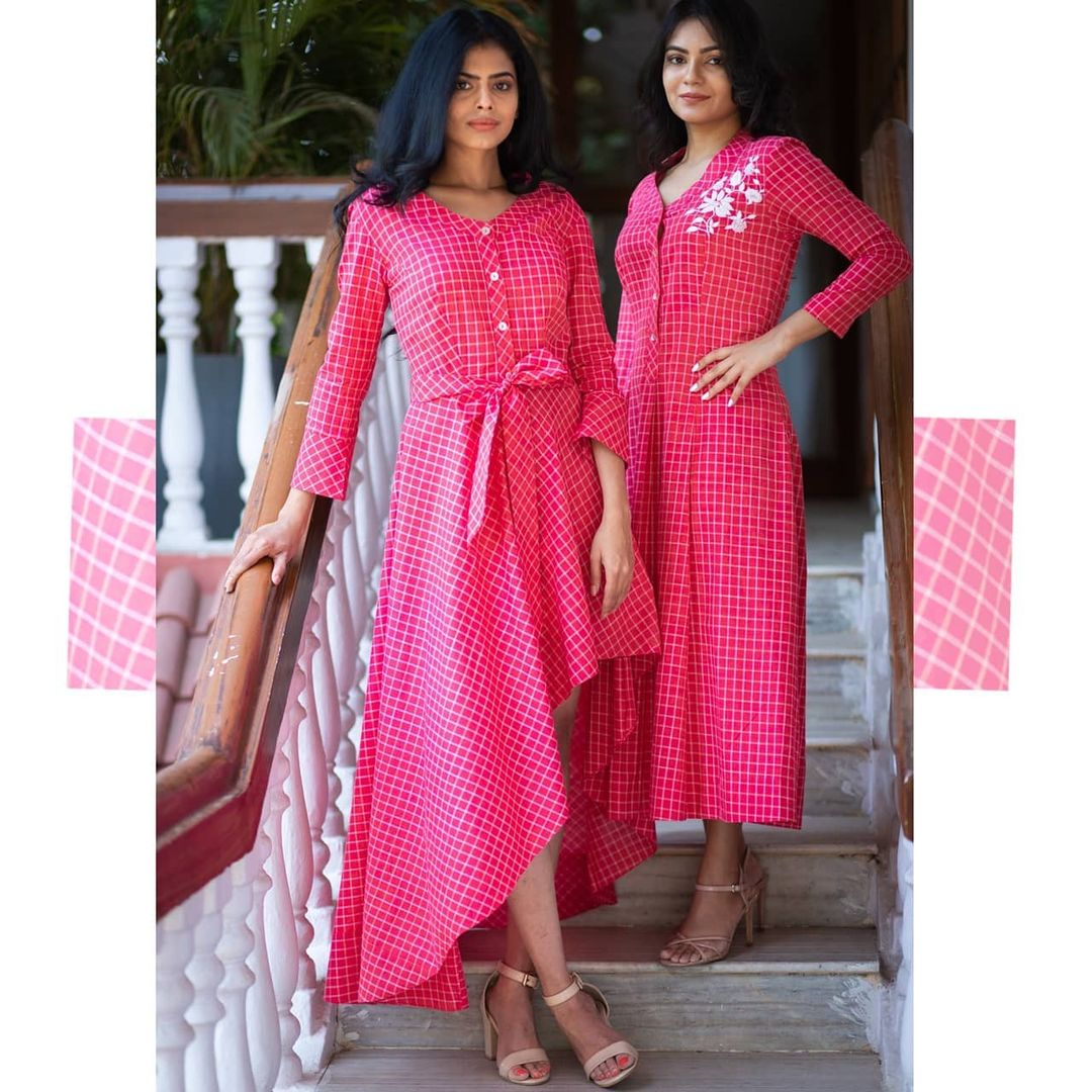 Summer Pinks and the beautiful cuts make dress tunics stylish and easy to wear. 2021-05-18