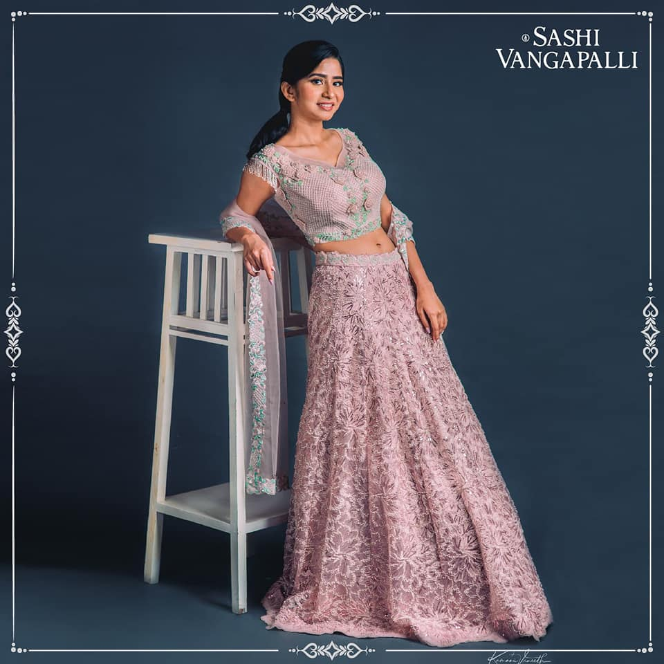 Lovely blush pink color bridal lehenga and blouse with net dupatta. Lehenga and blouse with classy hand embroidery work.  2021-05-25