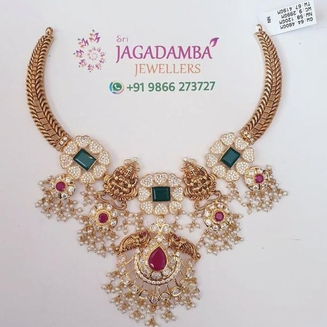 net 58gm kante necklace. For details Whatsapp +919866273727 2021-05-30