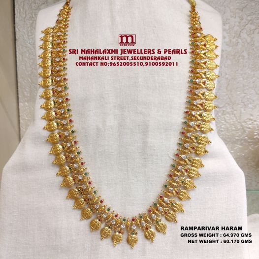 The Exclusive New Collection Added Kasu Ram Parivar Haram Studded with Ruby Emerald And Cz's. 2021-06-01