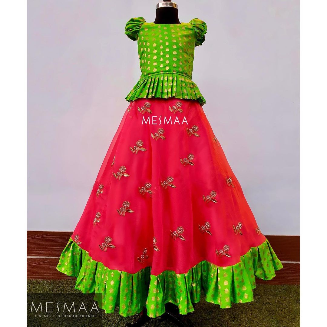 Some Banaras dresses for your little princess..! Ain't it too pretty to get your doll  dolled up in this..?