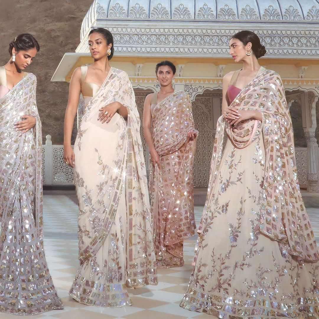 It's an era where we endeavor to bloom in diversity  With Manish Malhotra sequins and geometric finery Lure into an inventive amalgam Of our #Nooraniyat luminary... 2021-06-04