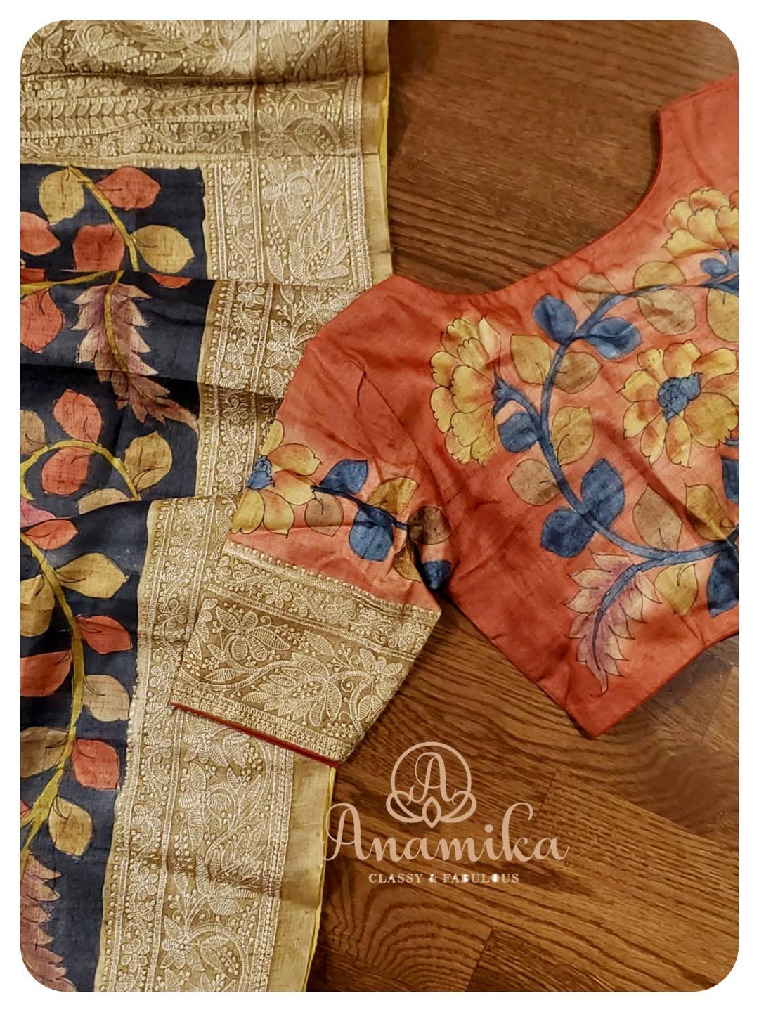 Handloom . Lets celebrate an all-time favorite saree - Hand painted kalamkari on tussar. Classic & Eternal !! DM 360-545-3636 for inquiries 2021-06-05