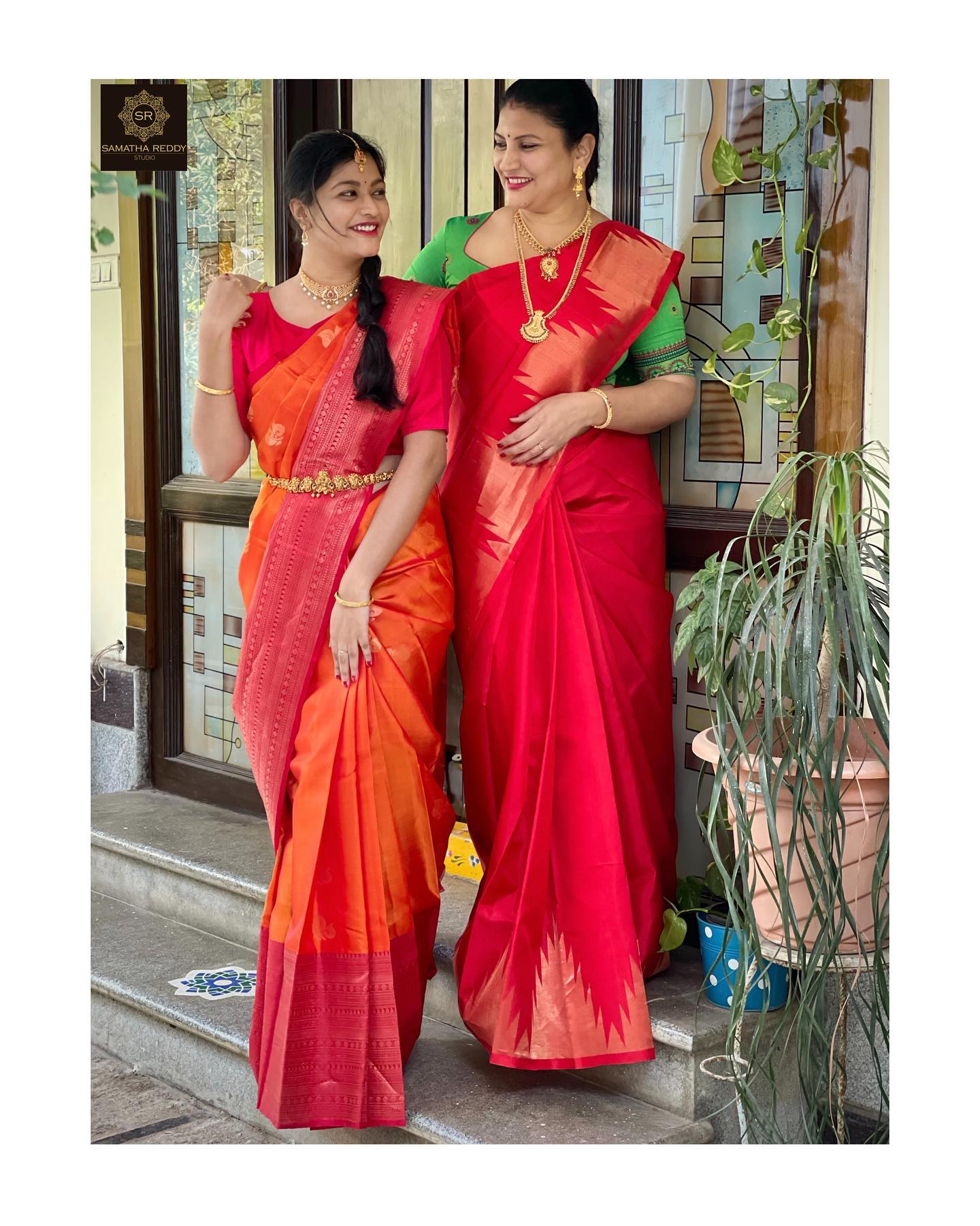 Mother and Daughter duo in these beautiful light weight Pattu Sarees. 2021-06-08