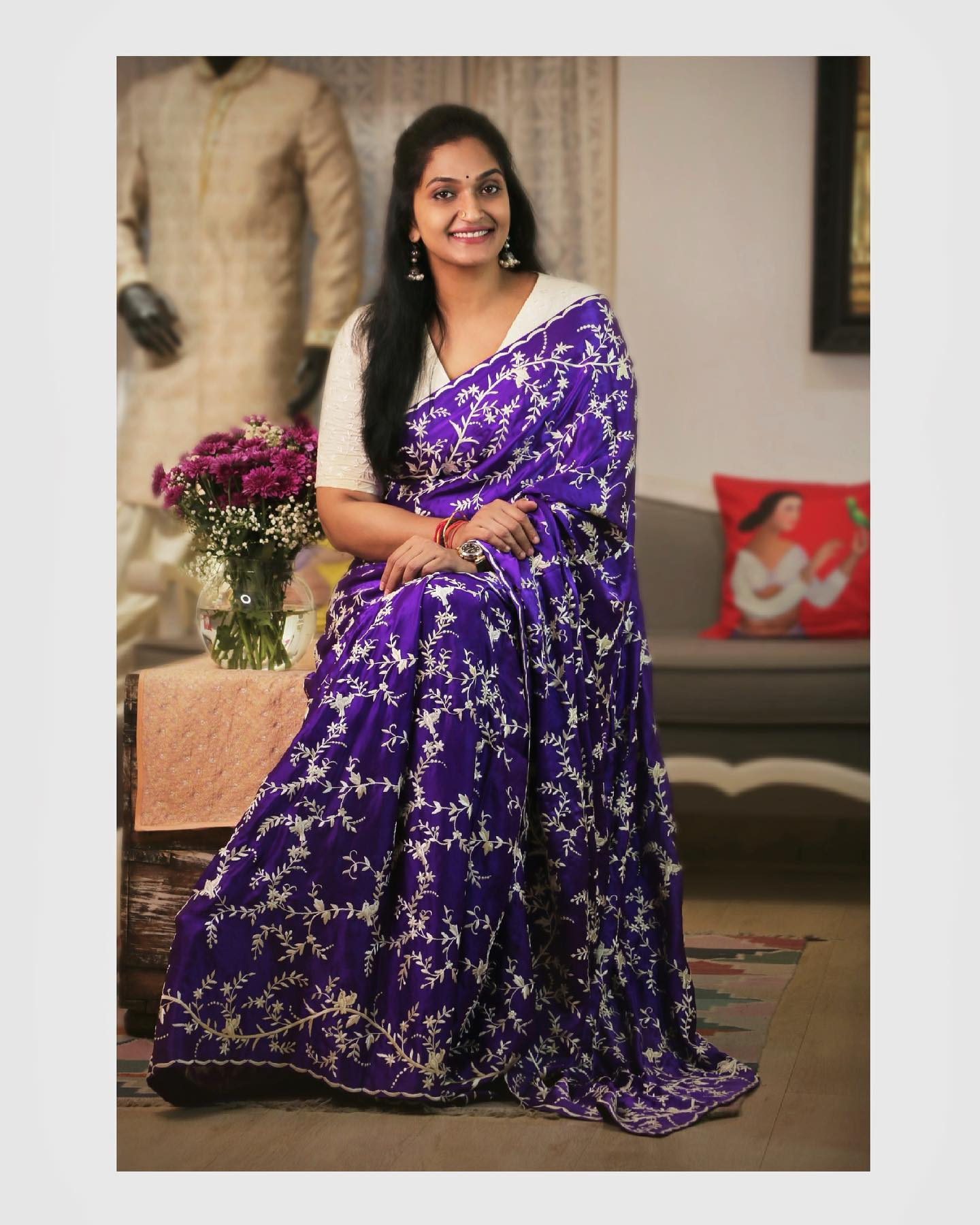 A Parsi Gara saree which is known for the intricate embroidery. 2021-06-08