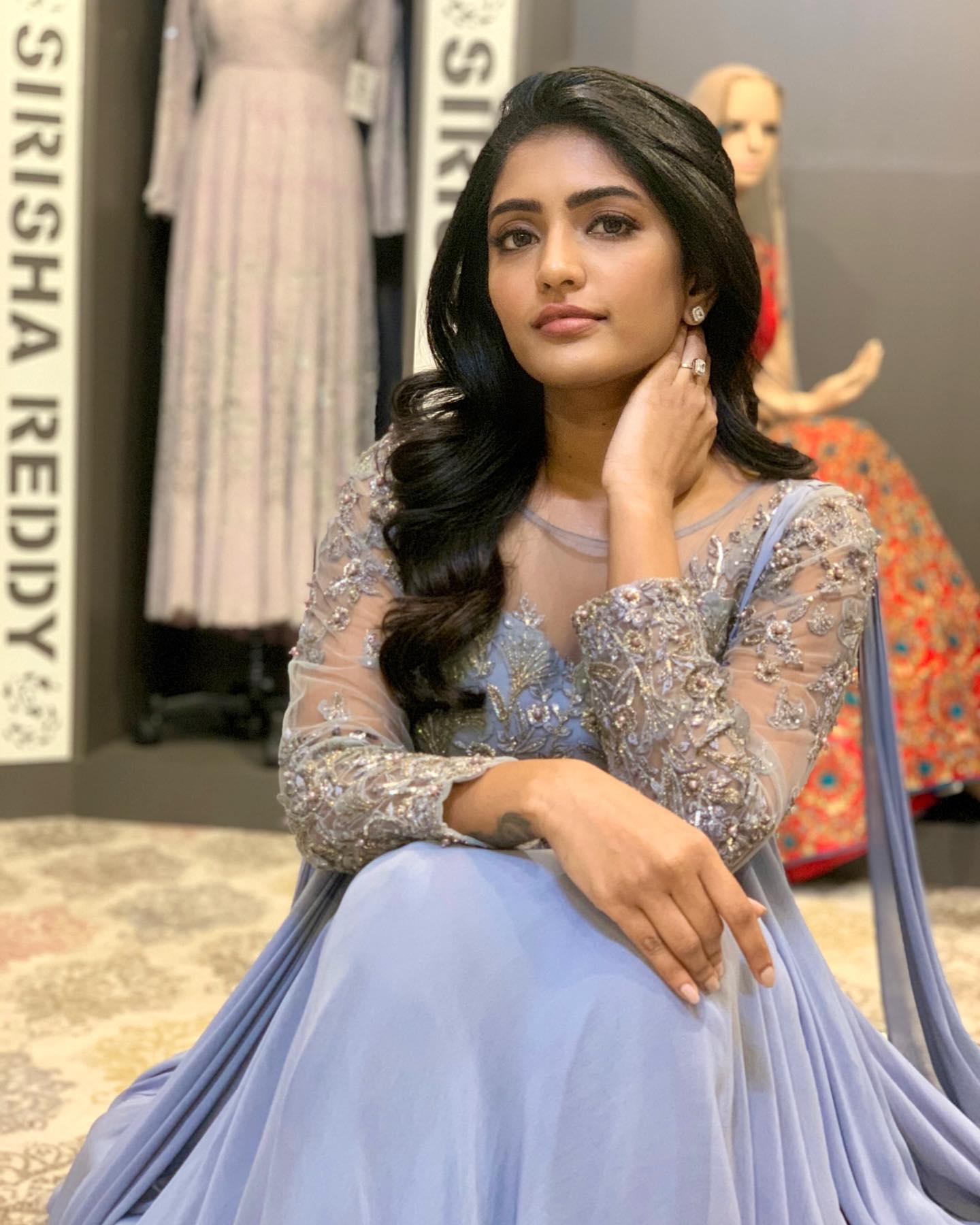 Beautiful actress Eesha Rebba in Sirisha Reddy floor length dress. 2021-06-09