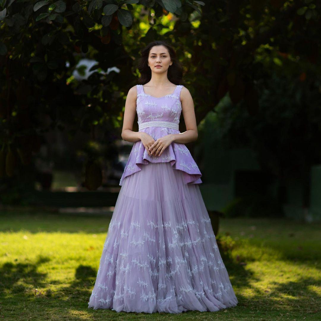 Stunning lavender net skirt and peplum top. 2021-06-10