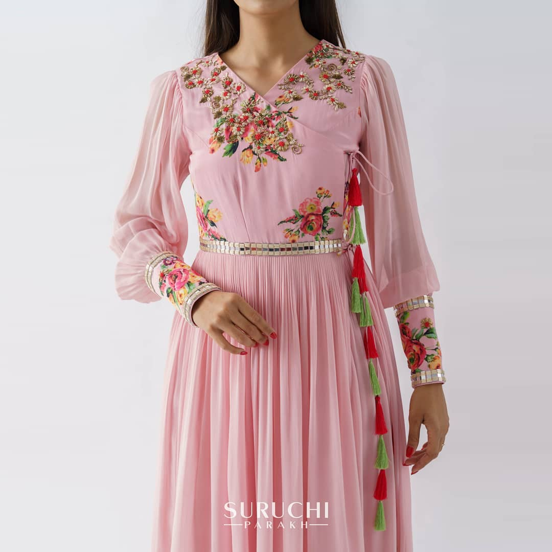 Hang in there  you add charm wherever you are and make everything around you so beautiful  just like these pretty little tassels! Blush pink color floral dress. 2021-06-11