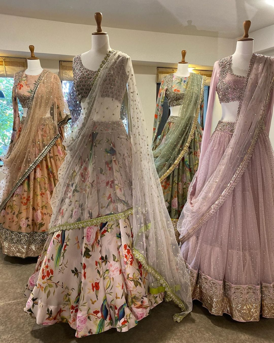 A mix of floral and exquisite embroideries in soft pastels perfect for the intimate summer wedding.  2021-06-14