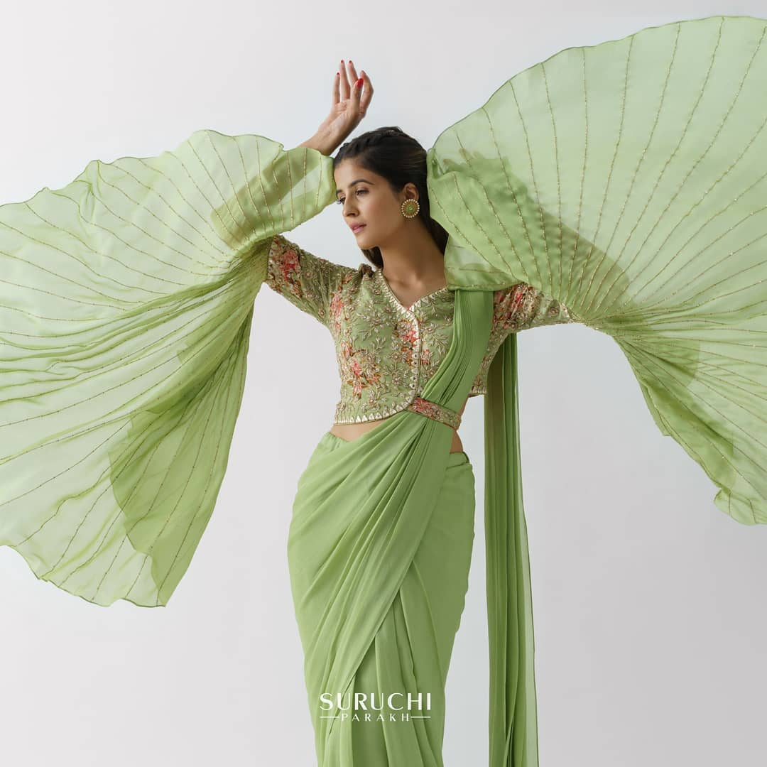 green designer saree !!!! The clouds might be dark but there's always blue skies beyond it. All you have to do is spread your wings break through those dark clouds and fly high! 2021-06-14
