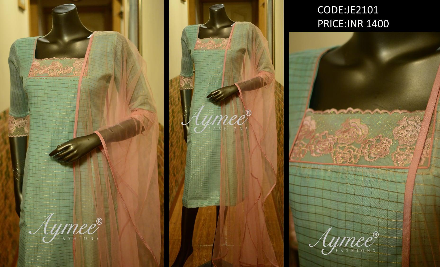Semi stitched TOP and dupatta(Size upto 42) (CODE:JE2101) Material - Top-Chanderi silk Dupatta-Net NO BOTTOM 2021-06-16