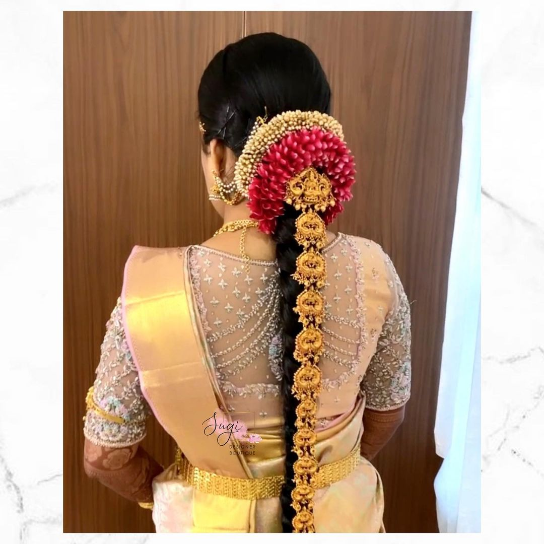Stunning sheer back bridal blouse with bead aari work. 2021-06-20