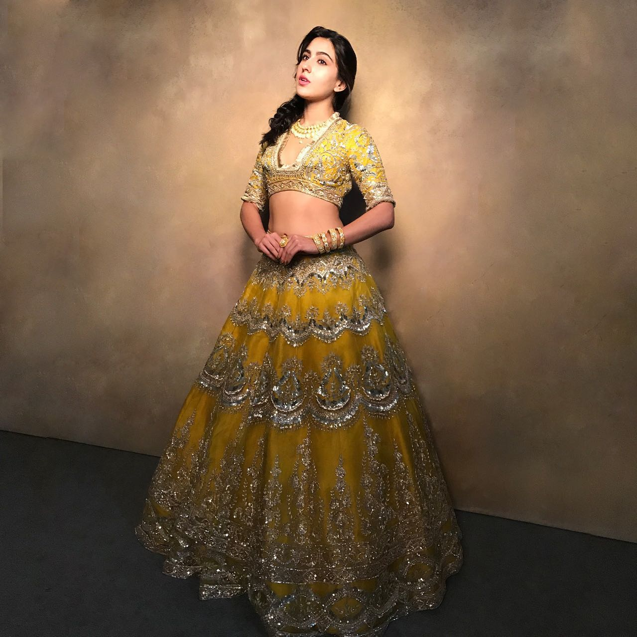 A pinnacle of extravagance In a grand sunlit spectacle Illuminating the #Noor of #Nooraniyat  Sara Ali khan brings about meteoric impact in the realm of bridal land... 2021-06-22