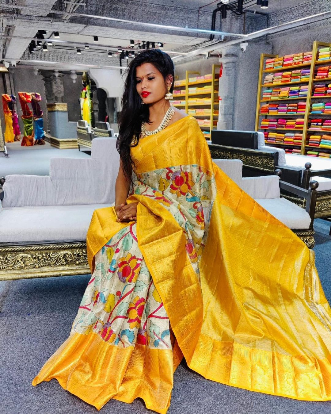 Floral Kanjeevaram saree !!! 2021-06-22