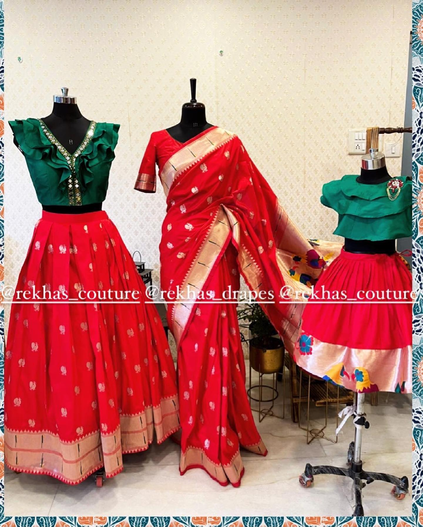 Stunning paithani style mom and daughter out fit. 2021-06-23