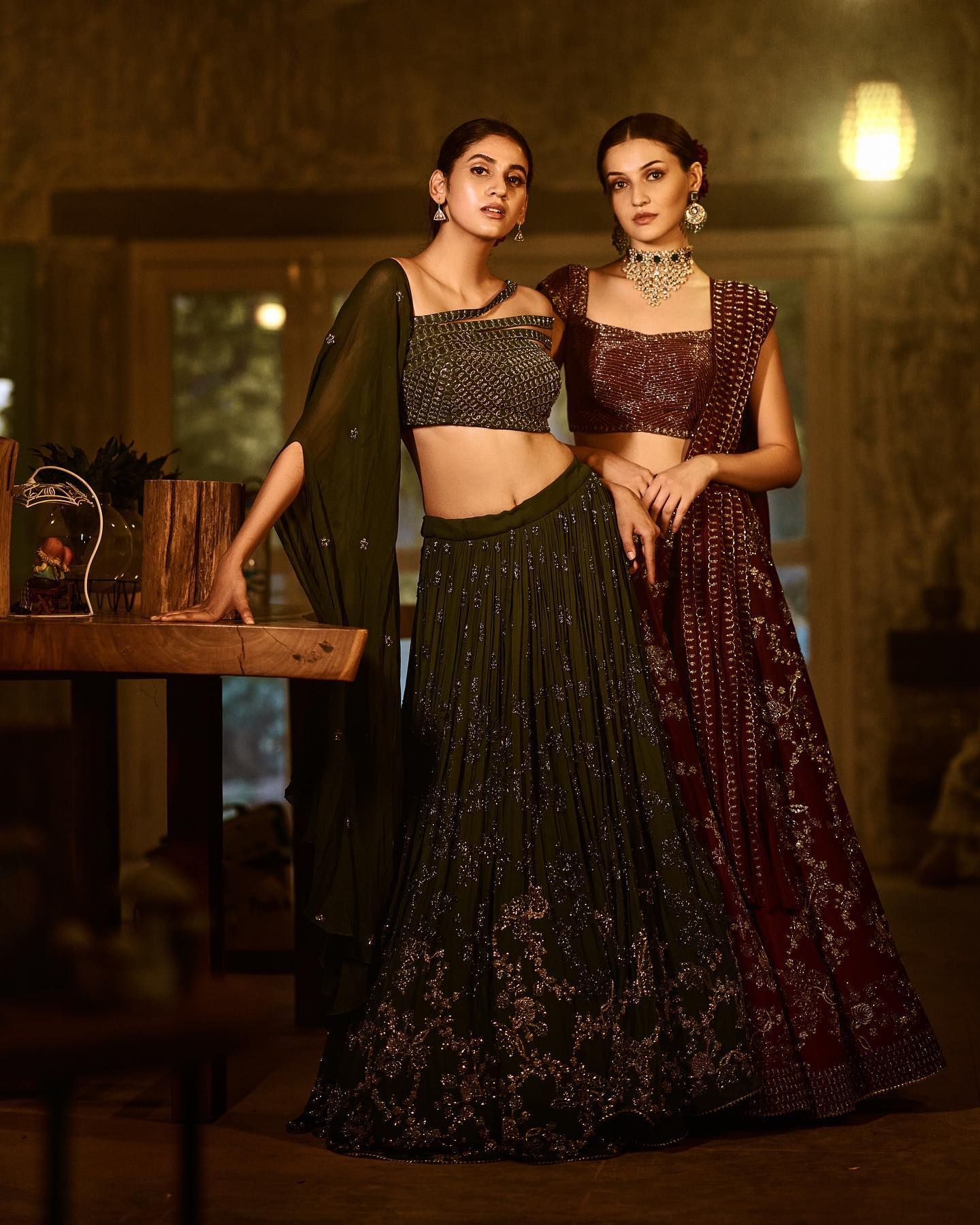 Phulwari . Gulshaat and Andleeb seen in intricately embroidered cutdana lehengas. These lehengas were made by using very fine hand embroidered techniques by skilled craftsmen. They are made with lots of love for the modern glittery bride.  To shop new collection Phulwari DM  or Whatsapp  on +91 6302 878 533 2021-06-24