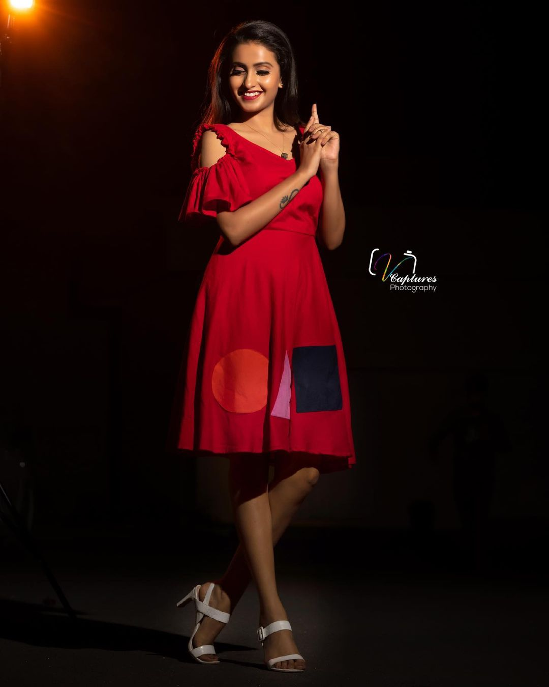Gorgeous actress Deepika Pilli in knee length dress. 2021-06-24