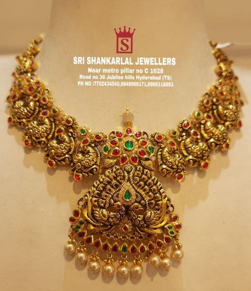 Latest kundan Necklace in light weight and heavy looking JEWELLERY Please visit us on video call 7702434540 9849968171 9966118893 to see more collection 2021-06-26
