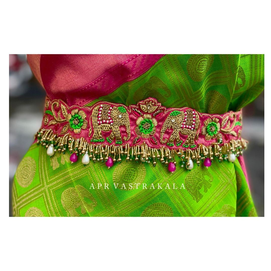 Gorgeous waist belt with elephant and floral maggam work. 2021-06-27