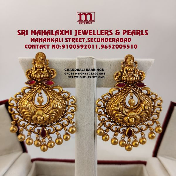 Presenting Here Light Weight New Collection Added Chandbali Earrings In The Stock Studded with Kundan Stone And Pearls. 2021-07-01