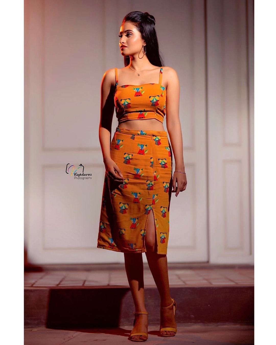 Beautiful actress Deepika Pilli in firoz design studio iutfit. 2021-07-02
