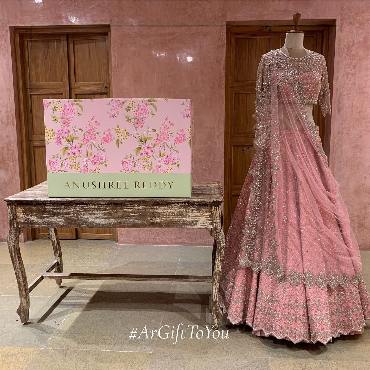 Gorgeous blush pink color bridal lehenga and blouse with net dupatta. Lehenga and blouse with hand embroidery stone work.   Carrying the silhouette of pride on a momentous day She wears intricacy & emotions stitched with tales of beauty. 2021-07-09