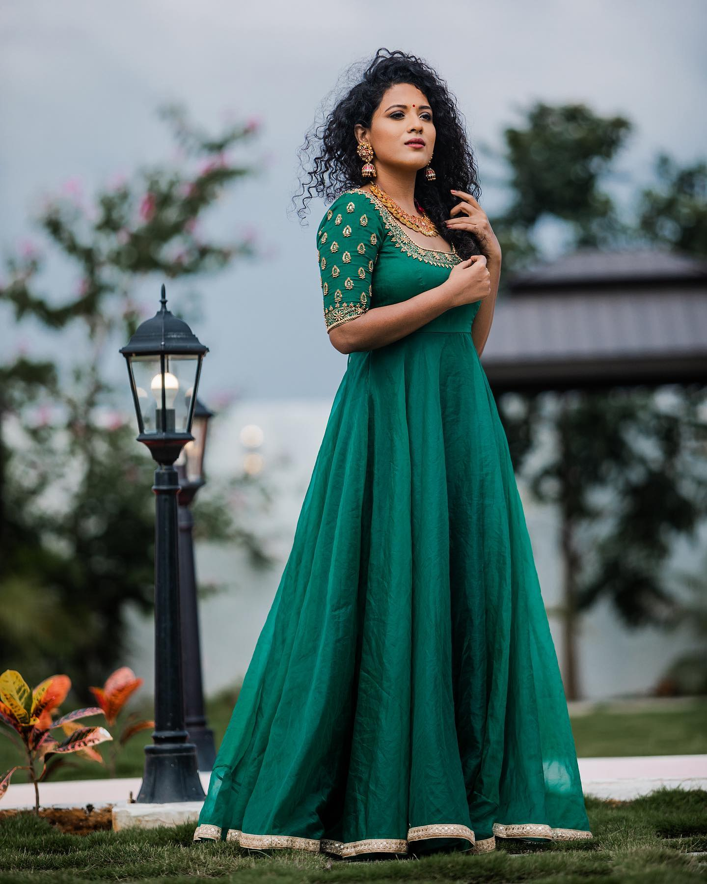 Kill it with opulence! This rich green Anarkali with hand embroidered embellishments is your show stopper on any given day. Shop now from Yoshnas By Ela. 2021-07-10