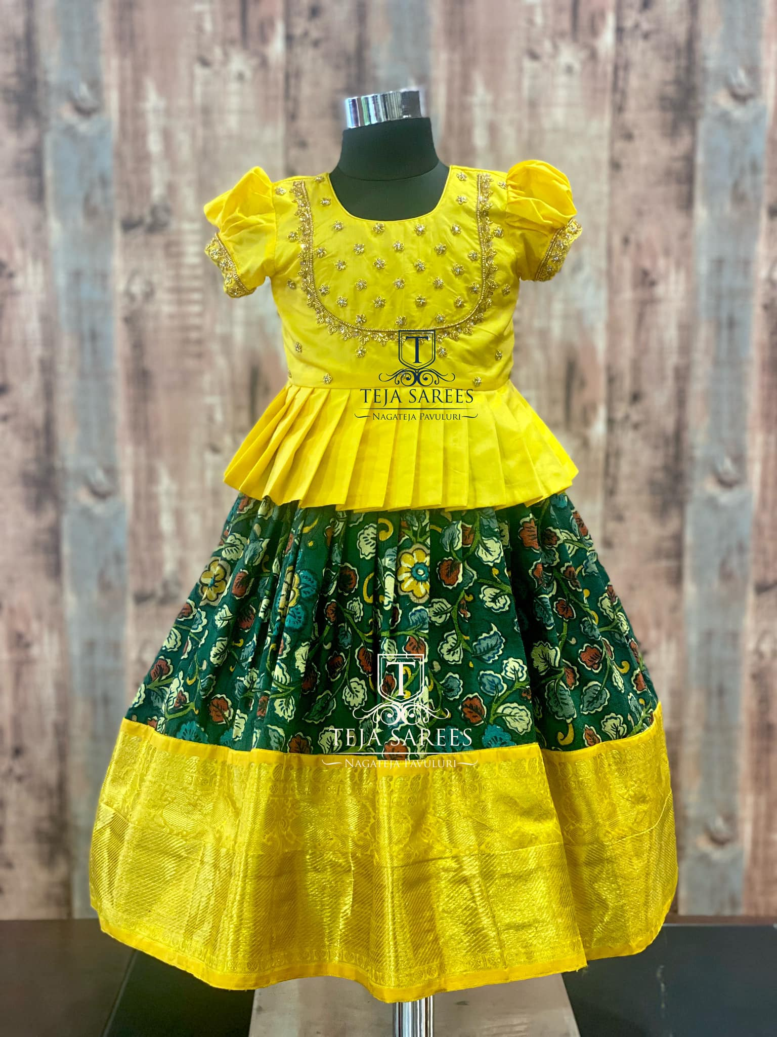 Beautiful kids ikkat pattu lehenga and parikini. Long blouse with hand embroidery work.  TS-KDS-236 235 234. Age 2-3 years. For queries/ price details Whats App/call  on 8341382382 please mail  at tejasarees@yahoo.com. 2021-07-18
