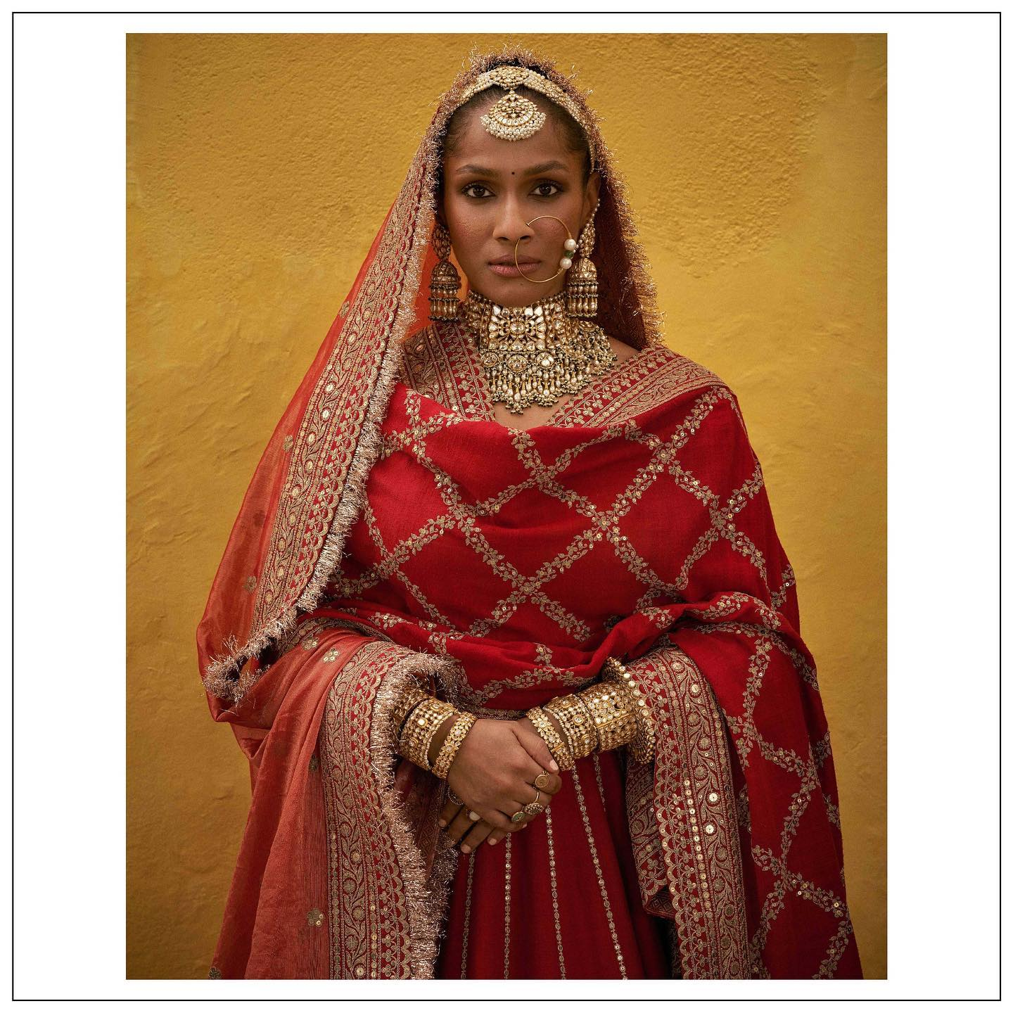 The 2021 Collection.  Masaba Gupta in Sabyasachi clothing and jewellery .  For all product related queries  please email  at customerservice@sabyasachi.com or contact retail stores directly. 2021-07-22