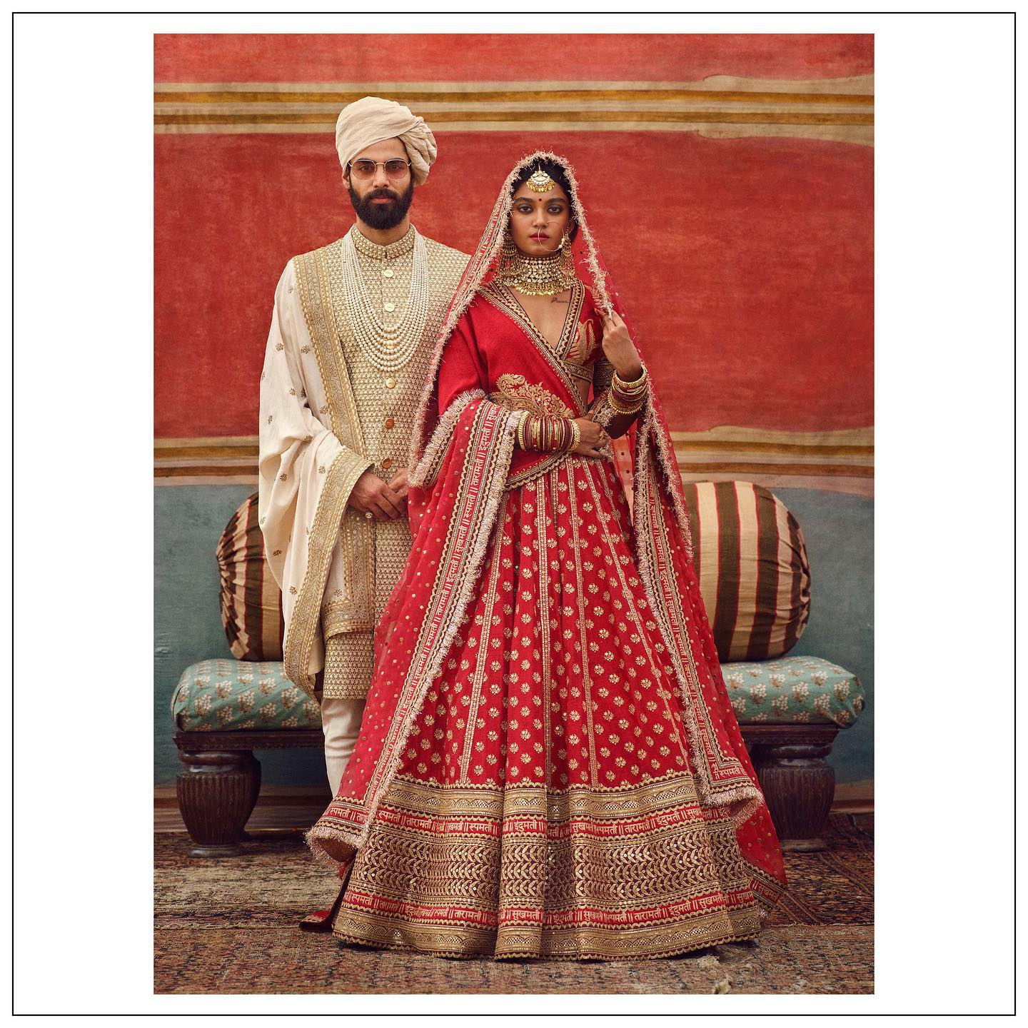 Stunning Red Sabyasachi Bridal lehenga set. The Sabyasachi 2021 Collection.  Clothing and jewellery Sabyasachi jewelry.  For all product related queries please email at customerservice@sabyasachi.com or contact  retail stores directly. 2021-07-23